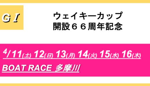 【多摩川】G1ウェイキーカップ開設66周年記念(4日目)競艇予想