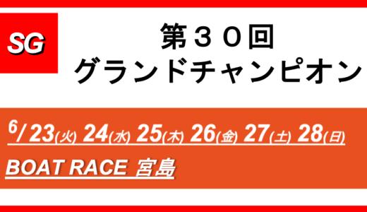 【宮島】SG第30回グランドチャンピオン(2日目) 競艇予想