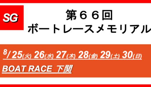 【下関】第66回ボートレースメモリアル(最終日) 競艇予想